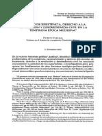 Carvajal Aravena - Derecho de Resistencia, Derecho a La Revolución y Desobediencia Civil en La Temprana Época Moderna