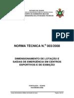 NT03 - Estadios e Areas Afins - Versão 2008