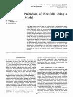 Analysis and Prediction of Rockfalls Using a Methematical Model
