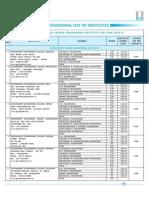 List of Institutes Engineering