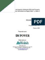 Resumen Ejectutivo Hidroelectrica en Cajatambo.