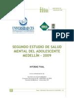 Segundo Estudio de Salud Mental Del Adolescente Medellín – 2009
