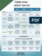 preschool c - timetable ay2015-2016