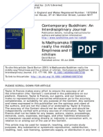 Burton, David_Is Madhyamaka Buddhism Really the Middle Way? Emptiness and the Problem of Nihilism_(Contemporary Buddhism--An Interdisciplinary Journal)_Vol 2_No 2_2008