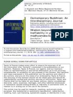 Burton, David_Wisdom Beyond Words?--Ineffability in Yogacara and Madhyamaka Buddhism_(Contemporary Buddhism--An Interdisciplinary Journal)_Vol 1_No 1_2008