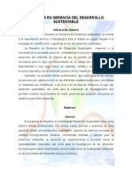 Maestria en Gerencia Del Desarrollo Sustentable