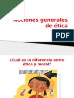 11. Nociones Generales de Ética