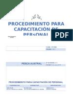 Procedimiento Para Capacitación Del Personal Copia