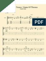Game of Trhones partitura