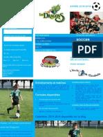 Dépliant Soccer Escabelle Dragons Année 2015 2016