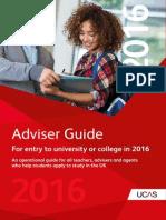 UCAS Adviser Guide 2016