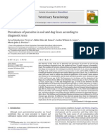 Prevalence of parasites in soil and dog feces according to diagnostic tests
