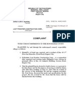 Complaint Breach of Contract DRAFT