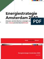 Energiestrategie Amsterdam 2040