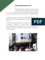 Evasión Tributaria en El País