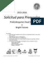 Preschool Application Packet Spanish Whole