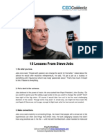 15 Lessons From Steve Jobs
