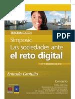 Pendon de III Simposio Las Sociedades ante el Reto Digital, 2010