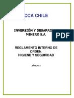 Anexo l Reglamento Interno Cca Chile s.a.