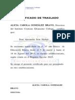 Certificado de Trasladog Soto Alchao