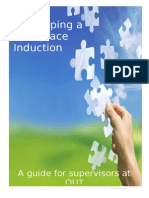 Developing a Workplace Induction