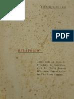 Relatório Ao Presidente Da República, Outubro de 1942, SC
