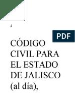 Código Civil Para El Estado de Jalisco