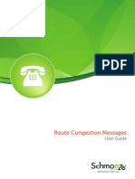 Route Congestion Messages