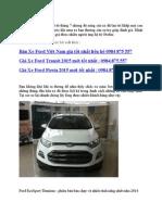 Ford Ecosport Tong Hop Danh Gia Tu Cac Dien Dan Otofun