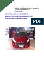 Nhung Thuet Ke Noi That Va Ngoai That Ford Fiesta 2014 Moi Duoc Yeu Thich