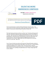 """Silent No More """"Defund Planned Parenthood"""" Campaign 