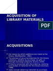 Acquisitions of Library Materials (1)