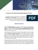 Se acerca el 7º Foro Anual de Tecnología y Negocios de Level 3_Peru-1