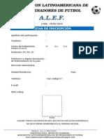 Ficha de Inscripción Alef 2015