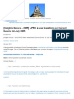 [Insights Secure – 2015] UPSC Mains Questions on Current Events_ 24 July 2015 _ INSIGHTS