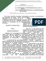 LEY DE BASES GENERALES DE LA ADMINISTRACIÓN DEL ESTADO