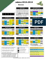 Calendrier Scolaire - Primaire - 2015-2016 - Soccer