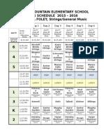 2015-2016 Foley Schedule