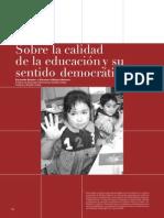 Calidad en Educación y Sentido Democrático
