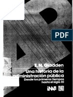 Una Historia de La Administracion Publica Vol 1