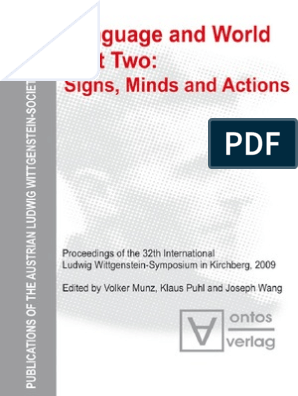 Munz Puhl Wang Language And World 2 Signs Minds And