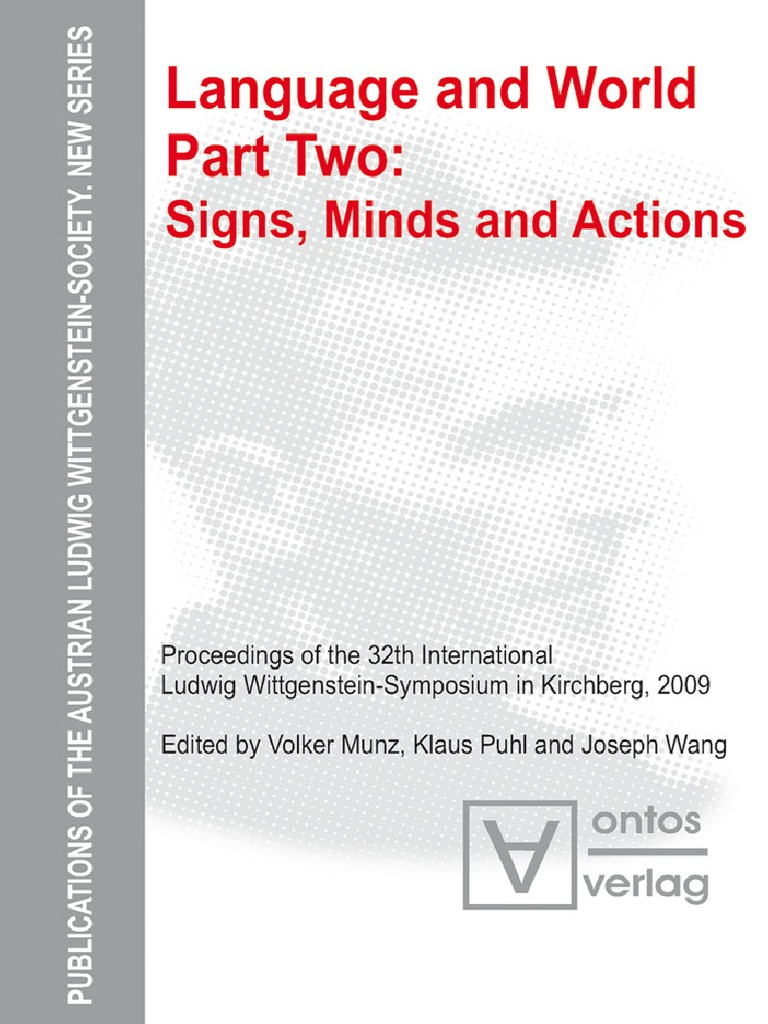 Munz, Puhl, Wang Language and World. 2 Signs, Minds and Actions ...