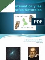 La Matemática y Las Ciencias Naturales