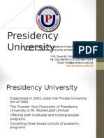 Overview of Presidency Univeristy