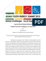 Laporan Asean Youth Energy Summit 2015