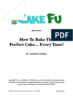CakeFu How to Bake the Perfect Cake