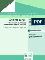 François Pérol devant la Commission des finances