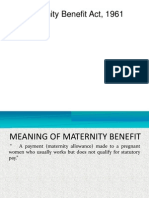 5. Maternity Benefit Act 1961