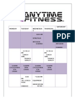Anytime Fitness of Flagstaff Group Fitness Schedule