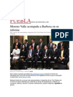 19-08-2015 El Universal - Moreno Valle Acompaña a Barbosa en Su Informe
